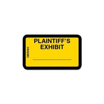 Tabbies TAB58094 Plaintiff's Exhibit Legal File Labels Pack of 252
