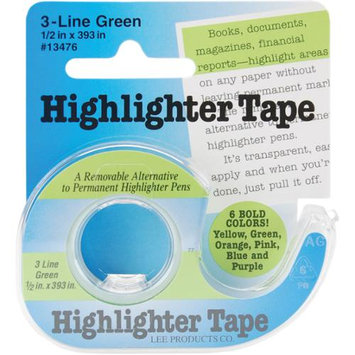 Lee Products 16738 Highlighter Tape .5 in. x 393 in. -Green