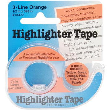 Lee Products 16739 Highlighter Tape .5 in. x 393 in. -Orange