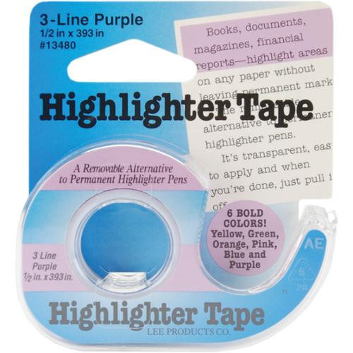Lee Products Highlighter Tape 1/2 x 393 inch - Purple