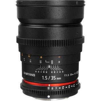 Samyang 35mm T1.5 Cine Wide Angle Lens for Sony Alpha Video DSLR Cameras