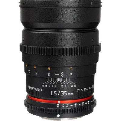 Samyang 35mm T1.5 Cine Wide Angle Lens for Sony Alpha Video DSLR Cameras