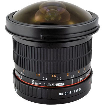 Samyang 8mm f/3.5 Fisheye II Lens w/ Detachable Hood (for Sony Alpha A-Mount Cameras)