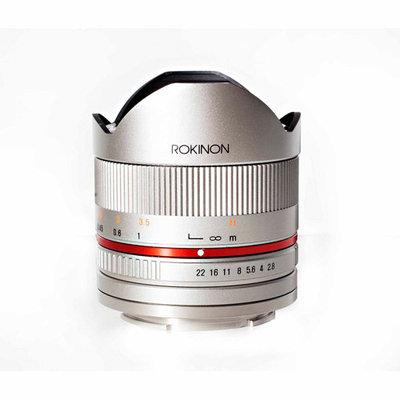 Rokinon 8mm f/2.8 Series 2 UMC Fisheye, Manual Focus Lens for Sony E-mount (NEX), Silver