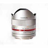 Rokinon 8mm f/2.8 Series 2 UMC Fisheye, Manual Focus Lens for Fujifilm X Mount, Silver
