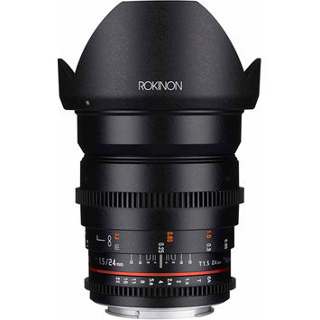 Rokinon Cine DS DS24M-S 24mm T1.5 ED AS IF UMC Full Frame Cine Wide Angle Lens for Sony A