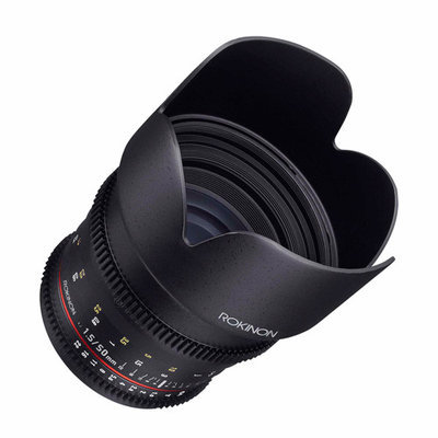 Rokinon 50mm T1.5 Cine DS Lens for Sony A Mount, 6 Groups/9 Elements, 1.5' Minimum Focussing Distance