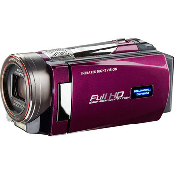 Elite Brands Inc. BELL+HOWELL Rogue Night Vision 1080p Camcorder (Maroon)