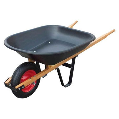 United General Supply Import WH89679 4 Cubic Feet Poly Tray Wheelbarrow
