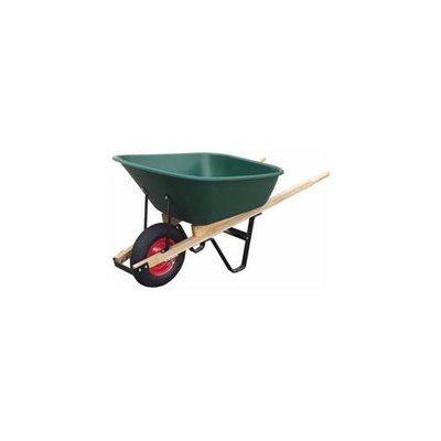 United General Supply Import WH89695 6 Cubic Feet Poly Tray Wheelbarrow