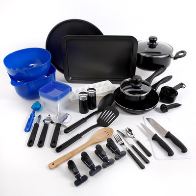 Gibson Overseas, Inc. Gibson Total Kitchen 59-Piece Complete Kitchen Set
