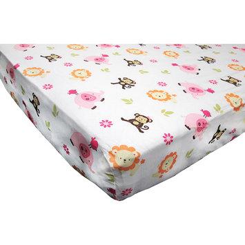 Little Bedding By Nojo NoJo Newborn Girl's Raspberry Jungle Fitted Crib Sheet
