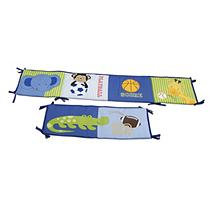 Little Bedding By Nojo NoJo Newborn Boys Playtime Jungle Four-Piece Crib Bumper Set