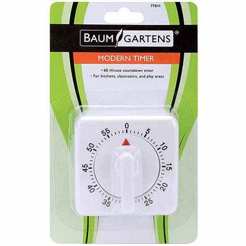 Baumgartens 77011BT Modern Timer 1/Pkg-White-60 Minutes