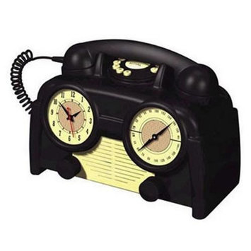 Us Basic 841179 AM-FM Retro Clock Radio Phone