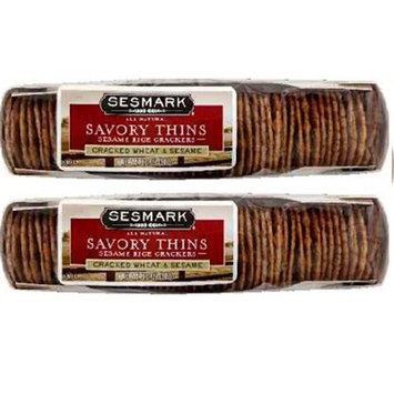 Sesmark Foods BG18026 Sesmark Foods Thins Wht-Sesame - 12x3.2OZ