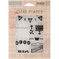 Basic Grey RSVP Cling Stamps By Hero Arts