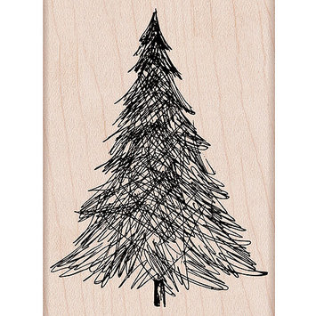 Hero Arts HA-H5806 Mounted Rubber Stamps-Pen & Ink Christmas Tree