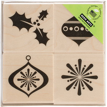 Hero Arts Mounted Rubber Stamp Set-Snowflakes