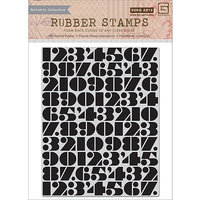 Basic Grey Capture Cling Stamps By Hero Arts-Number Background