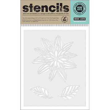 Hero Arts Stencils 6.25inX5.25in-Night Flower