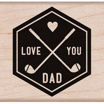 Hero Arts HA-D5911 Hero Arts Mounted Rubber Stamps 1.75 in. X1.75 in. -I Love You Dad
