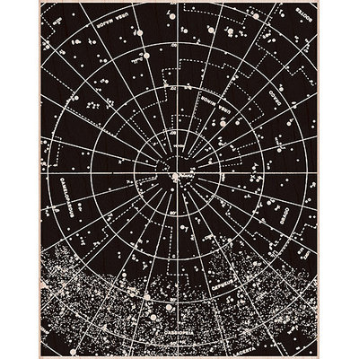 Hero Arts Mounted Rubber Stamps 4.25inX5.5in-Vintage Constellation