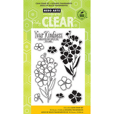 Hero Arts Clear Stamps 4inX6in Sheet-Night & Day Flowers
