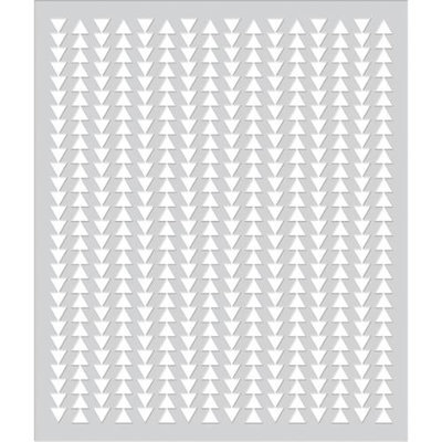 Basic Grey Second City Frosted Mylar Stencil By Hero Arts-Two Way Arrows
