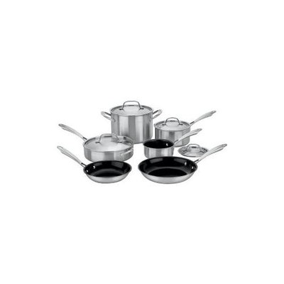 Conair Cuisinart - GreenGourmet Tri-Ply 10-Piece Cookware Set - Stainless-Steel