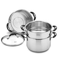 Weight Watchers WWS4-320SS Double/Stackable Steamer Set, 3-Quart