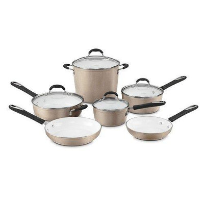 Cuisinart Ceramica 10-pc. Nonstick Ceramic Cookware Set (Beige/Khaki)