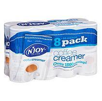 N'Joy Non-Dairy Coffee Creamer, 16 oz Canister, 8 per Carton