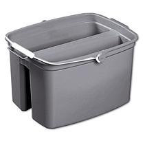 Brute Mop Buckets and Wringers 17 Quart Double Utility Pail, Gray