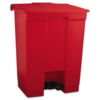 Rubbermaid Commercial RCP614500RED Red Step-On Waste Container