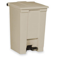 Rubbermaid Indoor Utility Step-On Waste Container, Square, Plastic
