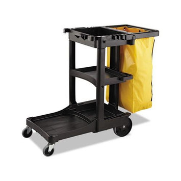 Rubbermaid Commercial RCP6183YEL Yellow Zippered Vinyl Cleaning Cart