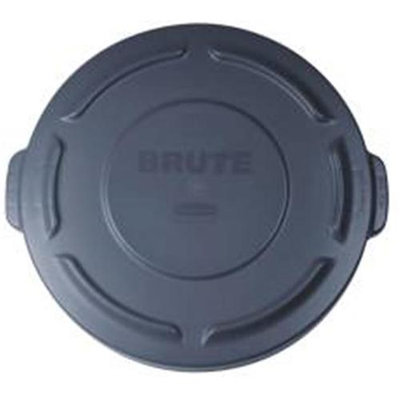 Rubbermaid Round Brute Lid For 20 gal Waste Containers, 19-7/8 inches Diameter, Gray, 1 Each