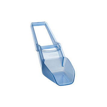 Rubbermaid Commercial Products Scovel Two-Handled Ice-Bin Shovel in Transparent Blue