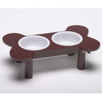 Classic Products Inc Classic Products Mini Bone-Shaped Double Diner with Plastic Bowls