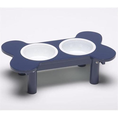 Classic Products Mini Bone-Shaped Double Diner with Plastic Bowls