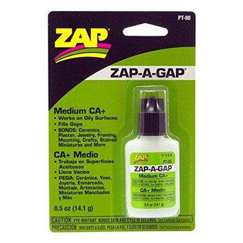 ZAP ADHESIVES PT80 Zap-A-Gap Ca+ 1/2oz Blister Card Multi-Colored