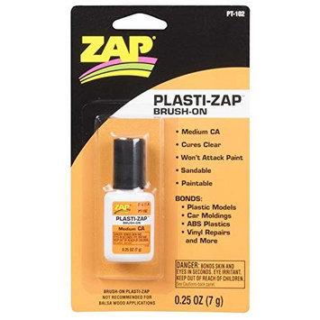 ZAP ADHESIVES PT102 Plasti-Zap CA Brush On 1/4oz PAAR1002 Zap Adhesives