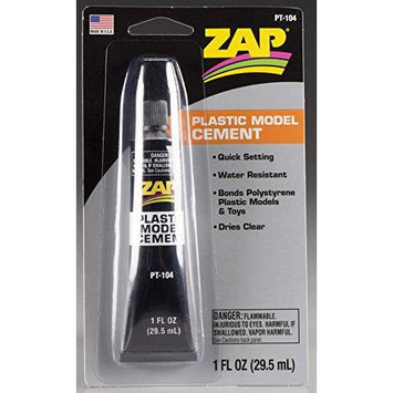 Zap Plastic Model Cement, 1oz, Carded PAAR1004 Zap Adhesives