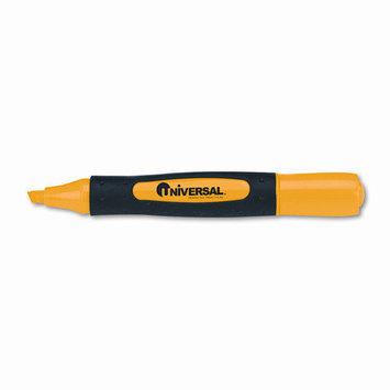 Universal Battery Universal UNV18861 Desk Highlighter, Comfort Grip, 1 Dozen, Fluorescent Yellow