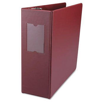 UNIVERSAL OFFICE PRODUCTS 20704 D-ring Binder With Label Holder 4 Capacity Burgundy