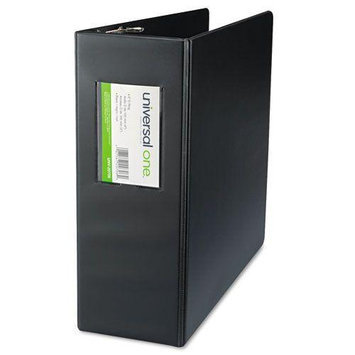 Universal Products UNIVERSAL OFFICE PRODUCTS 20706 D-ring Binder With Label Holder 4 Capacity Black