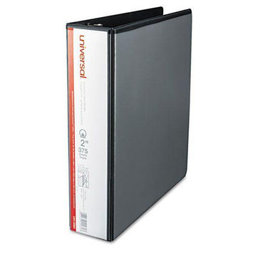 Universal Products Universal Office Products 20981 Round Ring Economy Vinyl View Binder 2 Capacity Black