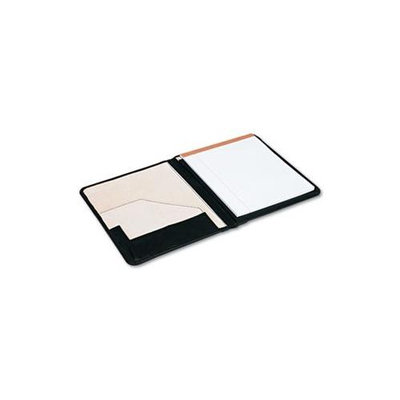 UNIVERSAL OFFICE PRODUCTS 32650 Pad Holder Suede-lined Leather W/writing Pad Inside Flap Pocket Black