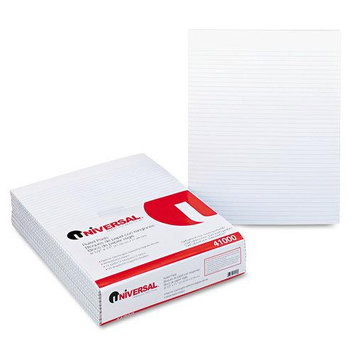 Universal Office Products Ruled Glue-Top Writing Pads Universal Glue